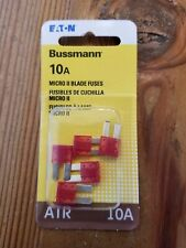 Lot Of (5) Bussmann 10 Amp Micro 2 Atr Automotive Blade Fuses