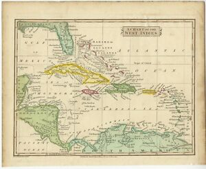 A Chart of the West Indies - Russell (1814)