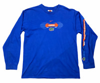 Vintage 90s Florida Gators Nike Mens Long Sleeve Crew Neck Jersey Blue Size M