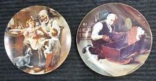 Lot of 2 Norman Rockwell Collector Plate Knowles Vintage Antique Grandpas Gift