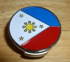 "Philippines Flag golf ball marker 1"" with Hat Clip"