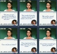 Star Trek TOS Archives & Inscriptions # 98 Dr Janice all 13 different variations