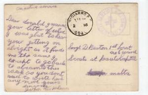 MALTA: 1916 postcard - VICIARRO B.O. GOZO postmark and hospital cachet (C59925)