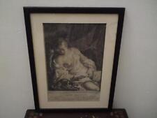 Antica Stampa LA fidélité surveillante incisione in Nero acquaforte Scalpello C 1785