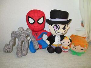 Spider-Man Penguin Poison Ivy Kawaii Cubes Super hero soft toy plush figure