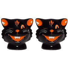 Sourpuss Cats Salt & Pepper Shakers Black Halloween Goth Cat Lover
