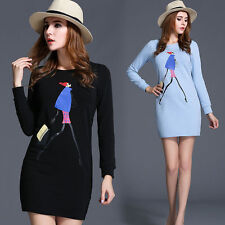 Long Sleeve Short/Mini Tunic Casual Dresses for Women