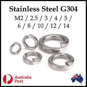 Spring Split Washer s M2 M2.5 M3 M4 M5 M6 M8 M10 M12 M14 Stainless Steel G304