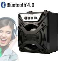 LED Bluetooth Wireless Speaker Super Bass Loudspeaker With USB/TF/AUX/FM Radio