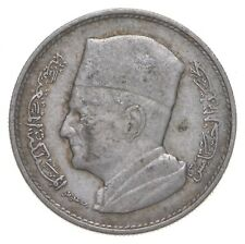 Roughly the Size of a Quarter - 1960 Morocco 1 Dirham - World Silver Coin *317