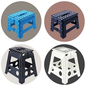 Step Stool Portable Plastic Foldable Chair Outdoor Bathroom Kitchen Adult Kids