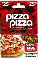 PIZZA PIZZA gift card 🍕 restaurant cafeteria Canada chicken no value