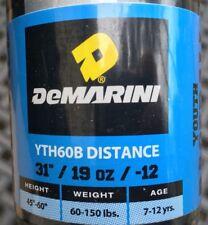 "DeMarini Distance 31""/19oz/-12 DSL/14BPF1.15/2.25"" DIA Youth Baseball Bat YTH60B"