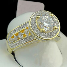 Vvs1 Yellow Gold Finish 14k For ladies 2.85 Ct Round Cut Diamond Engagement Ring