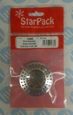 Star Pack Pequeño 32-41mm Cromo Plateado Trampa Colador De Fregadero Cuenca de drenaje de plástico