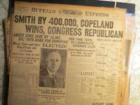 Politics History Newspaper 1922 AL SMITH NY GOVERNOR REPUBLICAN CONGRESS BUFFALO