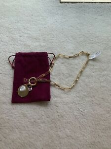 BEAUTIFUL NEW WITH TAGS DEVON LEIGH GOLD LINK MULTI CHARM NECKLACE