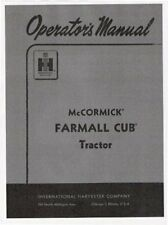 FARMALL CUB Operator Parts Maintenance manuals LOT of 4 with FREE Serial # Guide