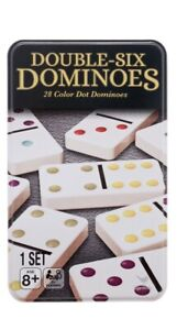 Double Six Dominoes, 28 Colored Dots, Cardinal Game Set New Sealed Adults Kids