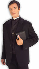 Priest Costume Shirt Front With Collar