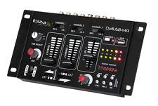 IBIZA dj21usb-MKII DJ Discoteca Mixer USB Cross-Fader KARAOKE 7 ingresso 4ch