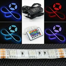B020 KIT strip 5mt LED RGB 300 SMD5050 IP65+G004 aliment.+D012 controller telec.