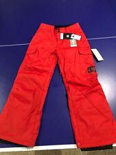 DC Banshee Youth Insulated Technical Snowboard Ski Snow Pants Nwt Orange Black