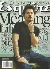JANUARY 2008 ESQUIRE MAGAZINE JOHNNY DEPP PIRATE'S OF THE CARIBBEAN BLOW ED WOOD