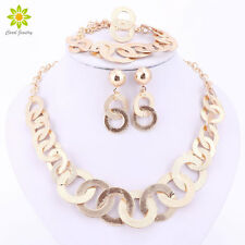 Fashion Charm Gold Plated Jewelry Set Dubai Women Necklace Earring Bracelet Ring