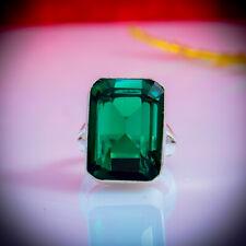 Green Tourmaline Gemstone 925 Sterling Silver Handmade Ring All Size