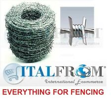 500mt galvanized barbed wire wire 1.8mm for wire mesh fencing security home