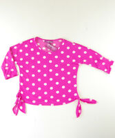 EPIC THREADS Pink White Polka Dots KIDS GIRL'S Top Tee Size S SALE