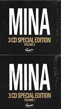 "MINA - RARO 2 BOX 6 CD CELOPHANATO "" 3 CD SPECIAL EDITION VOL.1 e VOL.2 """