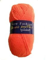 Woolcraft New Fashion DK Double Knit Knitting Wool Yarn Crochet 100g Ball Colour
