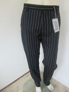 New Vivienne Westwood Mens Pinstriped Wool Trousers - 44 or 48 IT