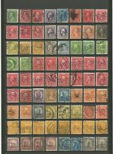 USA : LOT P 25 : 72 TIMBRES PERFORES - US PERFINS STAMPS