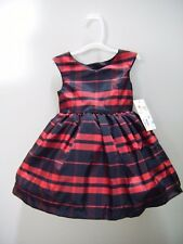 Toddler Girl Plaid Dress 12 Months Red Black Underpants Petticoat Mia & Mimi