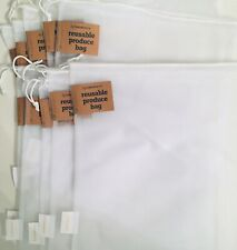 Pack of 10 Reusable Produce Bags Mesh Bags for Grocery Shopping Storage Fruit