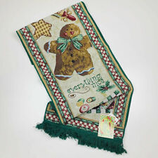 Gingerbread Joys Sugar & Spice Everything Nice Christmas Tapestry Table Runner