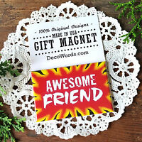 AWESOME FRIEND * Cute Friend Gift * Magnet * USA * DecoWords * New in Pkg