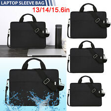 "13"" 15.6""Laptop Handbag Sleeve Case Bag Shockproof Waterproof Durable Black/Gray"
