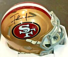 SF 49ers Frank Gore Signed Riddell Mini Helmet - Autographed Beckett BAS COA