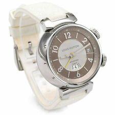 Louis Vuitton Tambour GMT Reveil Q1155 Alarm Automatic Men's Watch 41.5mm Box