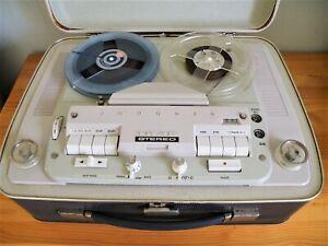 Magnétophone à bandes GRUNDIG TK 46 stéréo 4 pistes en super état année 1962
