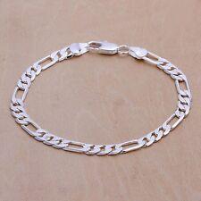 """Women's Mens Unisex 925 Sterling Silver Bracelet 8"""" L24"""