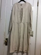 Patina Millinery Size M/L Beige Linen Duster/coat, Vintage, NWT, USA-made