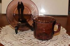VINTAGE....LOT OF 2....PURPLE...MOROCCAN.....SQUARE PATTERN...CUPS & SAUCERS