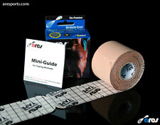 Ares Tape Precut - Kinesiology Elastic Sports Tape PRO - Beige - Support KT