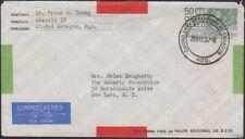 MEXICO, 1957. Air Envelope FB23, Sahagun City - New York