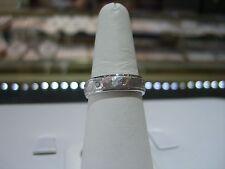 FINE MEN'S DIAMOND 0.50 CARAT WHITE GOLD ETERNITY RING HAMMER FINISH SIZE 10.5